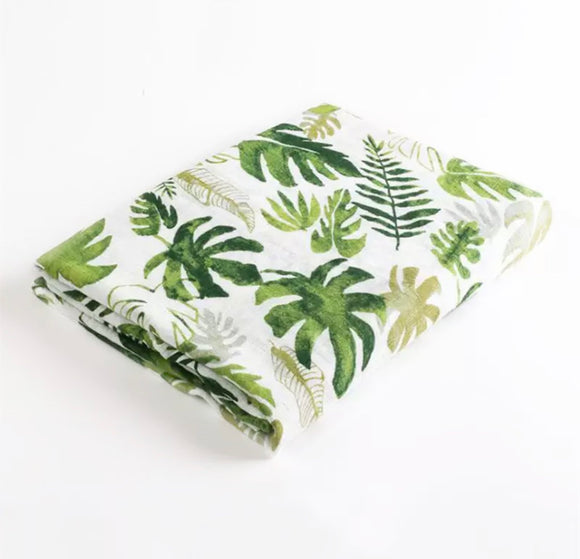 Preorder Large 110cm botanical muslin cotton swaddle blanket
