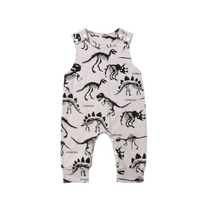 New dinosaur hunter design dungarees with poppers (0-2 years)