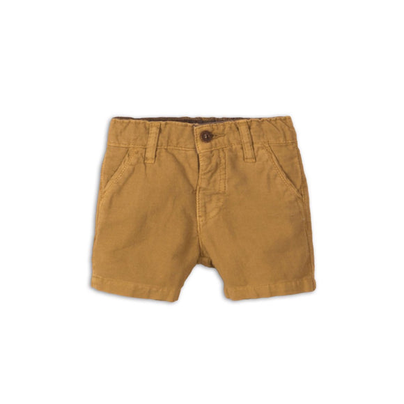 Boys camel chino shorts (0 - 12 months)