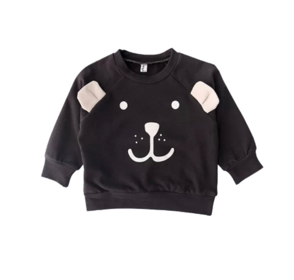 Clearance - 1-2 years - black bear sweater
