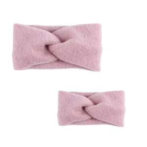Mama and Me - dusky pink matching knitted headwrap - adult and baby sizes available