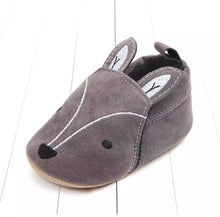Fox slip on charcoal suedette moccasins