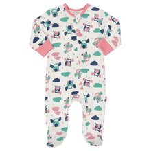 KITE GOTS certified organic cotton woodland owl zippy sleepsuit babygrow