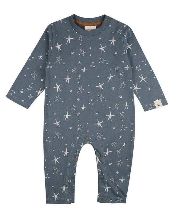 Superstar GOTS certified steel organic cotton playsuit romper by Turtledove London (up to 6 months)
