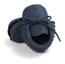 Navy Baby Tassel Mocassin Shoes