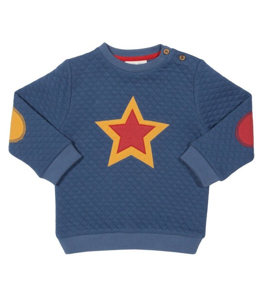 KITE organic cotton quilted Star sweater (0-12 months)