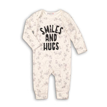Panda smiles and hugs footless romper (newborn to 6 months)