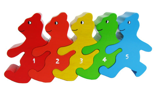 Bears in a Line Wooden Puzzle