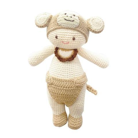 Molly the Monkey-lamaninadolls-lamaninadolls handmade crochet dolls