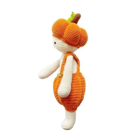 Pedro the Pumpkin-lamaninadolls-lamaninadolls handmade crochet dolls