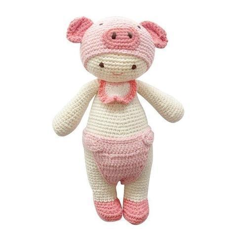 Shirley the Pig-Handmade doll-lamaninadolls-lamaninadolls handmade crochet dolls