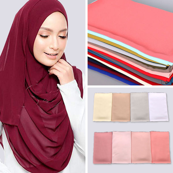 Code: H9866522 women plain bubble chiffon scarf hijab wrap print solid color shawls head scarf muslim hijabs fashion headband scarves 63 color Free Shipping Delivery 15-40 days