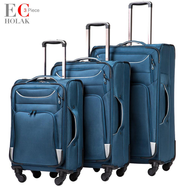Code: L65335 - 3 Piece Set Suitcase Spinner Softshell lightweight Lightweight Carry on Spinner Wheel Travel Vacation Luggage 20 24 28inch Free Shipping Delivery 20-40 days