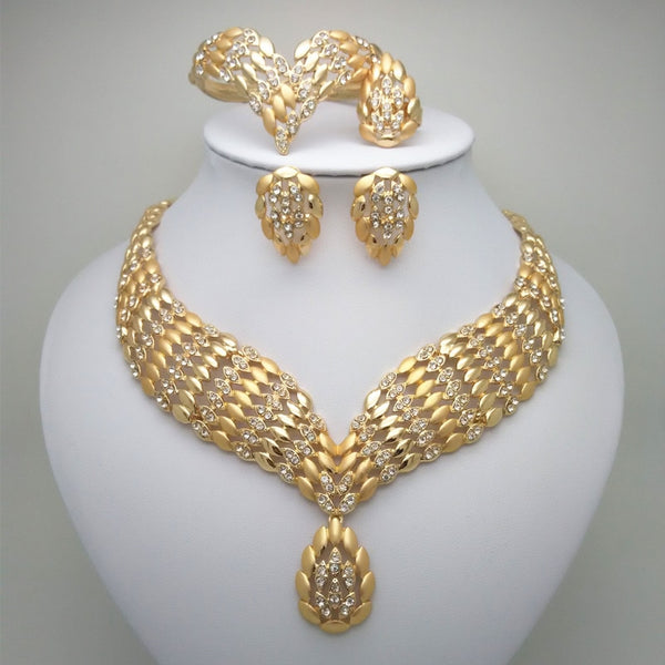 2019 Kingdom Ma Fashion African Dubai Gold Jewelry Women African Beads Set Nigerian Bridal Jewelry Sets Wedding Accessories