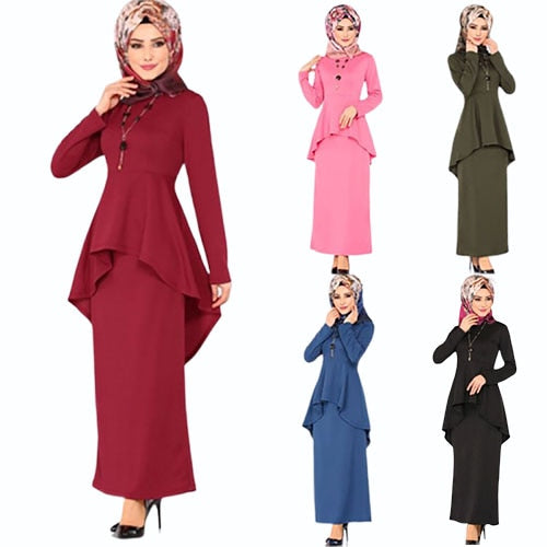 Code: A963325 2019 new elegent autumn fashion style muslim women plus size long abaya S-5XL Free Shipping USD29.66