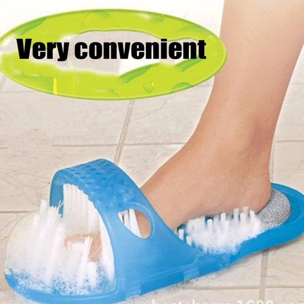 Code: H257745 1PCS Shower Foot Feet Cleaner Scrubber Washer Foot  Massage Health Care Household Bathroom Stone Massager Slipper Blue USD10.71 Free Shipping