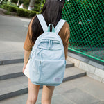 Code: 765225 Large Girls School Bags for Teenagers Backpacks Nylon Waterproof Teen Student Book Bag Big College Leisure Schoobag Blue 2019