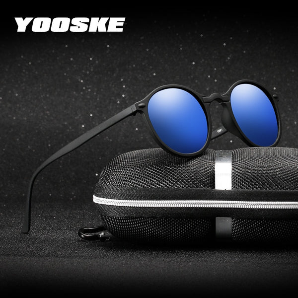 Code: S784432 YOOSKE Night Vision Polarized Sunglasses Men Women Small Round Goggles Yellow Sun Glasses Driver Night Driving UV400 Eyewear