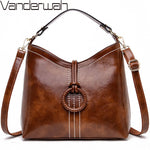 VANDERWAH Brand 2019 Sac A Main Femme leather Luxury Handbags Women Bags Designer Handbags High Quality Ladies Shoulder Hand Bag