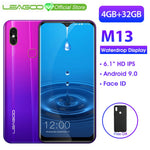 Code: M6777521 LEAGOO M13  Android 9.0 Smartphone 6.1'' HD  IPS Waterdrop Display 4GB RAM 32GB ROM MT6761 3000mAh Dual Cams 4G Mobile Phone USD155.80 (Free Shipping)