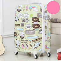 Code: L653332 Letrend Cute Bear Student Rolling Luggage Spinner Children Cartoon Trolley Suitcase Wheels 20 inch Kids Carry On Travel Bag Free Shipping Delivery 20-40 days