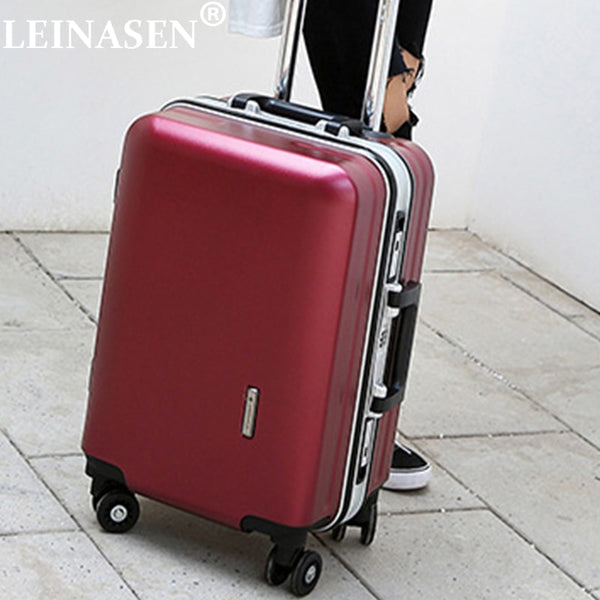 "LEINASEN New fashion students rolling luggage 20"" 22"" 24"" 26"" inch brand carry on box men travel suitcase women trolley luggage"