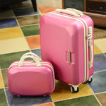 "Code: L711452 Luxury pure color 2PCS/SET trolley suitcase travel bag valise spinner brand men women carry on rolling luggage 20""22""24""26"" inch Free Shipping Delivery 20-40 days"