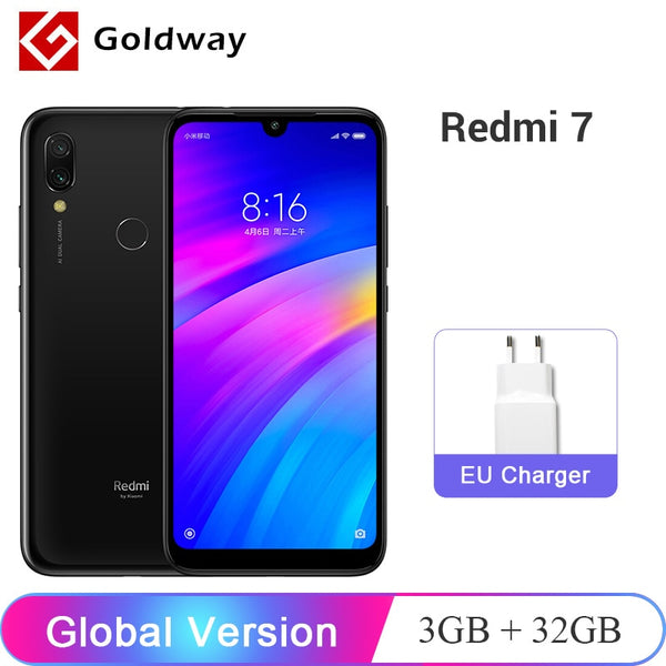 "In Stock ! Global Version Xiaomi Redmi 7 3GB RAM 32GB ROM Mobile Phone Snapdragon 632 Octa Core 12MP 6.26"" 4000mAh Battery"