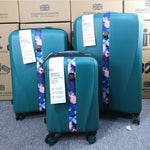 "CHENGZHI 20""24""28"" inch ABS TSA lock trolley suitcase set spinner luggage set with wheels for traveling"