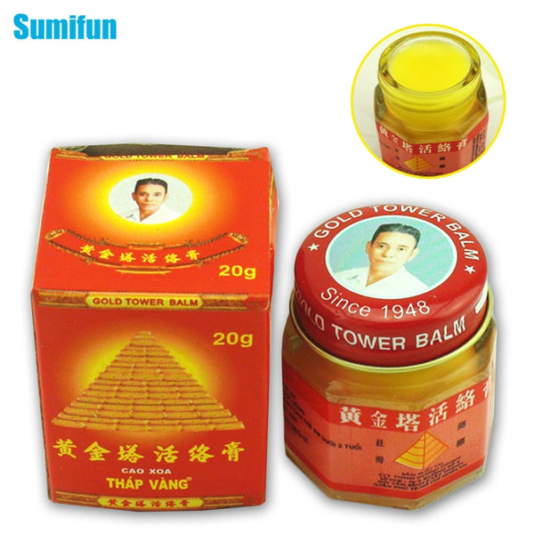 Code: H6933254  5 Bottls  Sumifun 100% Original Vietnam Gold Tower Ointment Pain Relieving Patch Body Massage Neck Massager Arthritis Tiger Balm USD25.29 (5 Bots)  Free Shipping