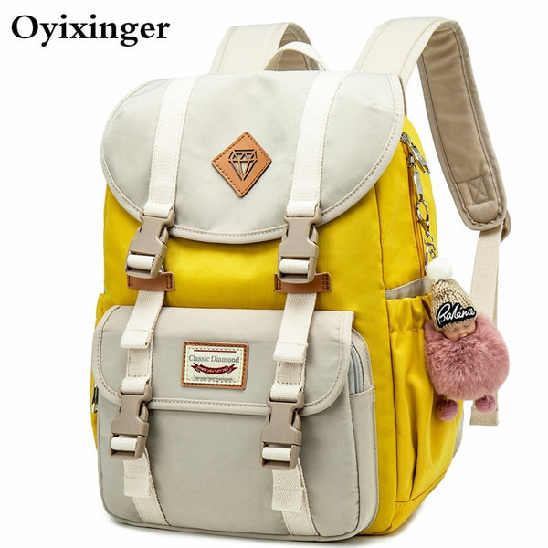 Code: S768985 New Junior School Bags For Girls Backpack Student Children Bag Concise Waterproof Campus Backpacks Plecak Szkolny Mochila Ruedas