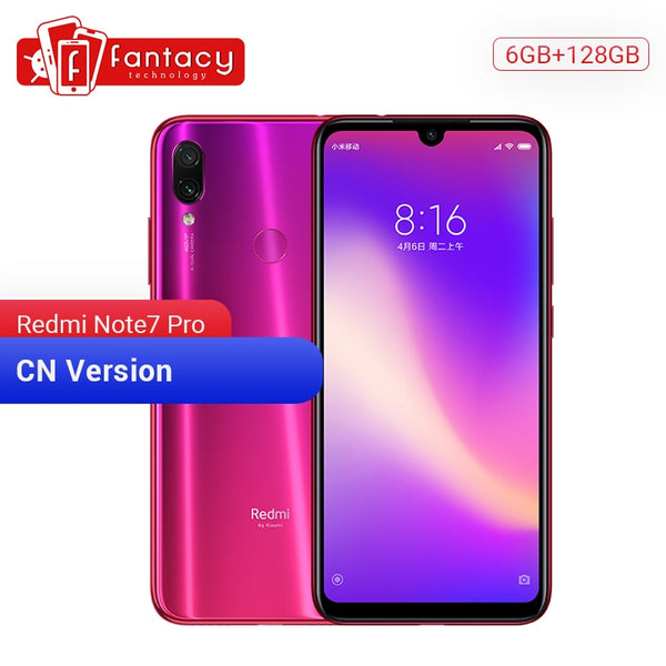 Code: M466352 Original Xiaomi Redmi Note 7 Pro 6GB 128GB 48MP IMX 586 Camera Snapdragon 675 Octa Core 6.3'' FHD Screen Mobile Phone 4000mAh USD291.00 (Free Shipping)