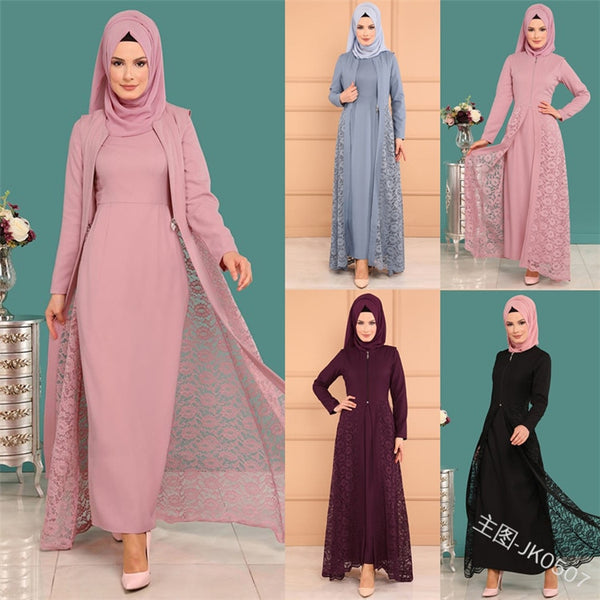 Code: A9866652 2019 new elegent fashion style muslim women beauty plus size long abaya S-5XL Free Shipping USD38.05