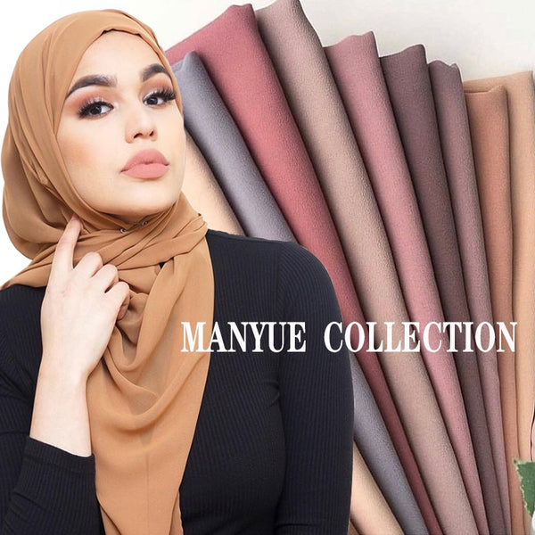 Code: H788521 Plain Bubble Chiffon Hijab Shawl Scarf Women 2019 Solid Color Long Shawls and Wraps Muslim Hijabs Scarves Ladies Foulard Femme Free Shipping Delivery 15-40 days