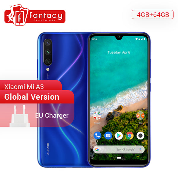 Code: M155245 Global Version Xiaomi Mi A3 MiA3 4GB 64GB Mobile Phone Snapdragon 665 48MP Triple Cameras 32MP Front Camera 6.088 AMOLED Display From USD235.33 (Free Shipping)