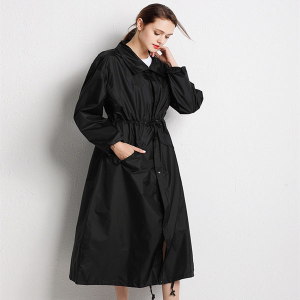 Code:R455214 Long Raincoat Women cloak Waterproof Windproof Light Hooded Rain Coat Ponchos Jackets Female Chubasqueros Mujer big size Free Shipping Delivery 15-40 days