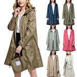 Code: R4225851 Long Raincoat Women Men cloak Waterproof Windproof Light Hooded Rain Coat Ponchos Jackets Female Chubasqueros Mujer Free Shipping Delivery 15-40 days