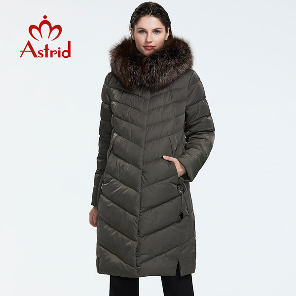Code: J7855254 Astrid 2019 Winter new arrival down jacket women with a fur collar loose clothing outerwear quality women winter coat Free Shipping Delivery 15-40 days