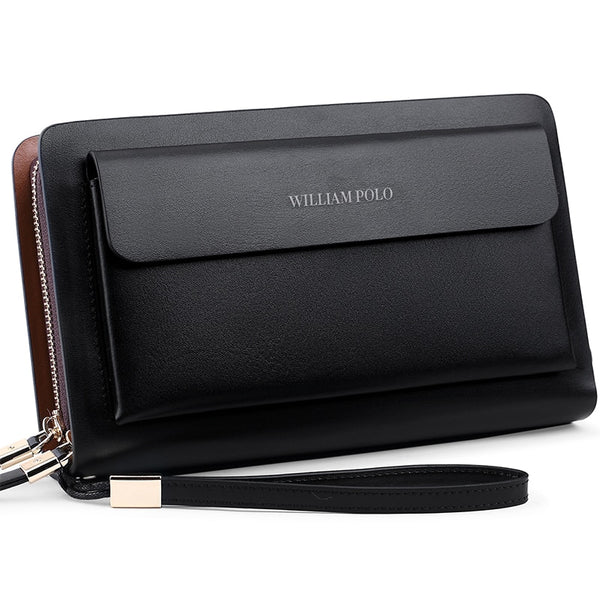 WILLIAMPOLO Wallet for men Genuine Leather