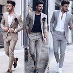Price: MVR2677.10 Latest Design Mens Dinner Prom Party Suit Groom Tuxedos Cheap Two Pieces Groomsmen Wedding Suits Custom Made (Jacket+Pants) Free Shipping - Estimated delivery 20-40 days