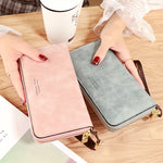 Female Wallet PU Leather Long Purse Black/pink/blue/green/gray Famous Brand Designer Wallet Women 2020 Quality Female Purse