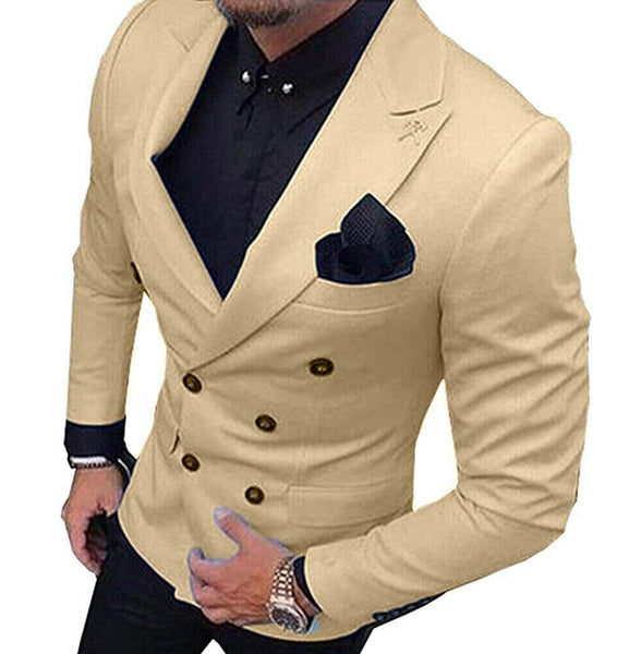 Price: MVR2253.74 2020 New Champagne Men's Blazer Suit Jacket 1 Pieces Double-Breasted Notch Lapel Blazer Jacket For Weeding Party (Only Jacket)Free Shipping Estimated Delivery 20-30 days