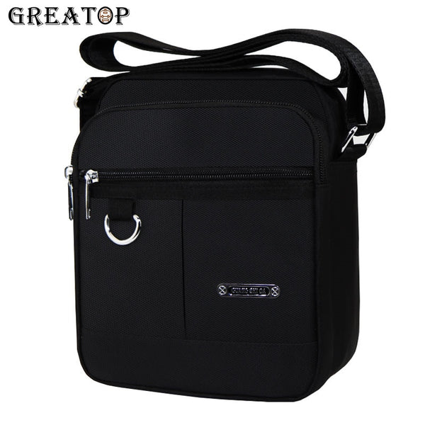 Price USD30.00 - Code: B78854115 GREATOP Men Messenger Bags Black Color 2 Sizes Nylon Crossbody Bag Small Casual Travel Shoulder Bags Waterproof