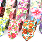 Code: T733152 Fashion Floral Tie for Men Narrow Casual Mens Ties for Wedding Party Flower Skinny Neckties for Women Printed Male Neck Ties