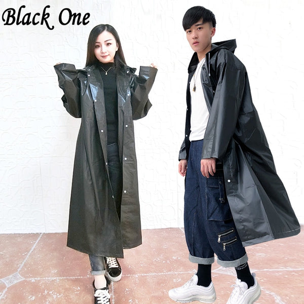 Code: R9452154 Women Raincoat Men Black Rain Clothes covers Impermeable Rainwear Capa de chuva chubasquero Poncho Waterproof Hooded Rain Coat Free Shipping Delivery 15-40 days