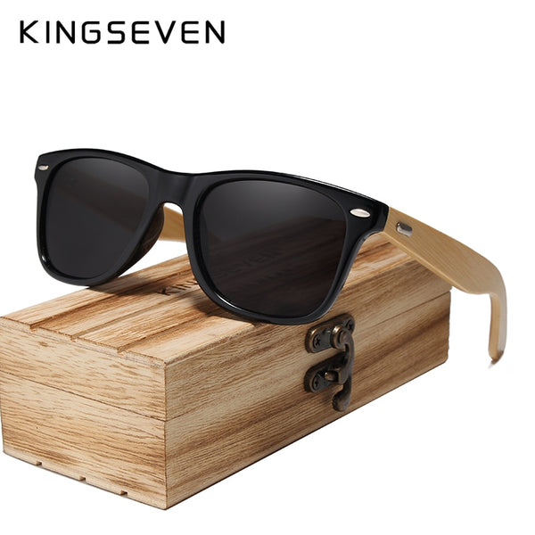 Code: S4855769 Bamboo Sunglasses Men and Women All In KINGSEVEN DESIGN Sun Glasses Polarized Vintage Travel Eyewear Mirror Lenses