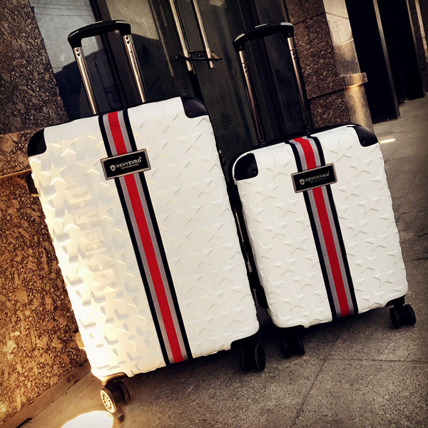 Code: B78666 Business rolling luggage 20/24/28 inch high quality fashion 100% PC trolley suitcase spinner brand travel luggage Free Shipping Delivery 20-40 days