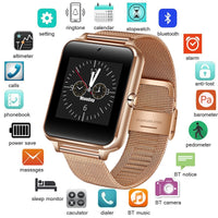 Code: SMTW 7785842 Free Shipping Delivery 15-40 days 2018 New Stainless Steel Bluetooth Smart Watch Women Men Sport Waterproof SmartWatch LED Color Touch Screen Watch Support SIM TF