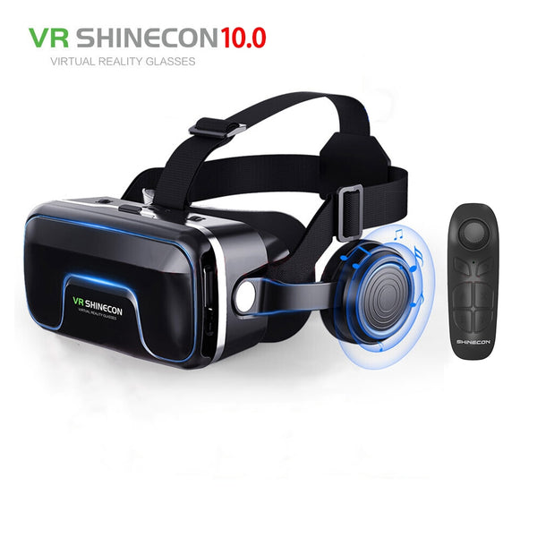 Code: E1553221 Hot!2019 Google Cardboard VR shinecon Pro Version VR Virtual Reality 3D Glasses +Smart Bluetooth Wireless Remote Control Gamepad