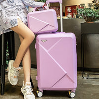 Code: L552254 New Fashion 20/22/24 Inches Trolley Boarding Case PC Colourful Travel Waterproof Luggage Set Rolling Suitcase Spinner Box Free Shipping Delivery 20-40 days